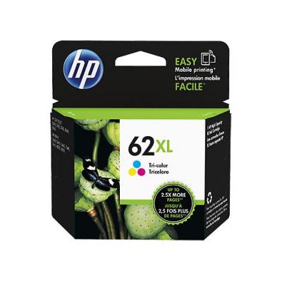 Hp inktcartridge: 62XL Tri-color Ink Cartridge - Cyaan, Magenta, Geel