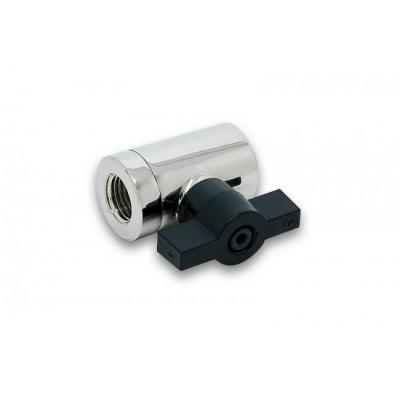 Ek water blocks cooling accessoire: EK-AF Ball Valve (10mm) G1/4 - Zwart, Zilver
