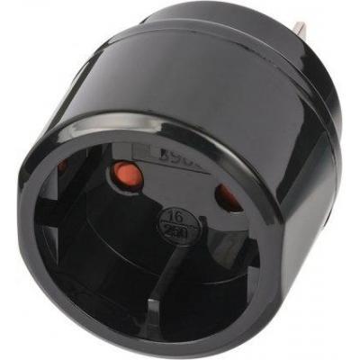 Brennenstuhl stekker-adapter: Travel Plug Euro Countured plug/USA, Japan - Zwart