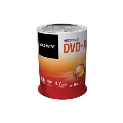 Sony DVD: 16X DVD-R, geleverd in een spindle boxverpakking van 100 stuks. Ideaal voor het snel opnemen en eenvoudig .....