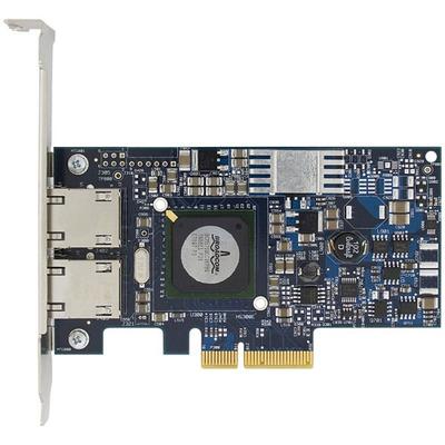 Dell netwerkkaart: Broadcom NetXtreme II 5709 Gigabit Ethernet NIC met Vier poorten PCIe x4 met TOE - kit - Blauw