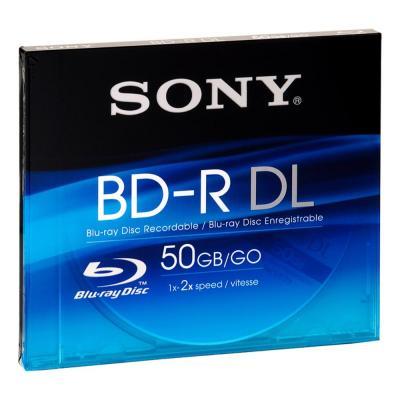 Sony BD: De BNR50AV is een opneembare dubbellaagse Blu-ray Disc™ met een gegevenscapaciteit van 50 GB.
