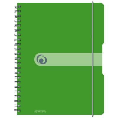 Herlitz spiral pad, A4 to go 80 sheets, 80 g Schrijfblok - Groen