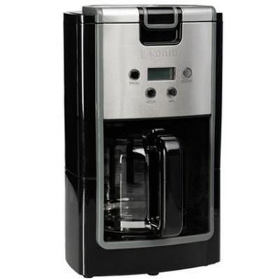 König koffiezetapparaat: Koffiezetapparaat met timer, 220-240V, 50Hz, 900W, 1870 g, 0.75m - Zwart