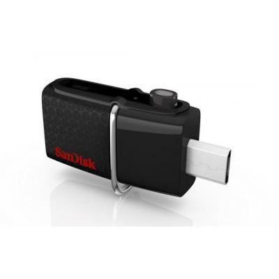 Sandisk USB flash drive: 128GB Ultra Dual USB 3.0 - Zwart