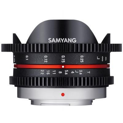 Samyang 7.5mm T3.8 Cine UMC Fish-eye, MFT Camera lens - Zwart