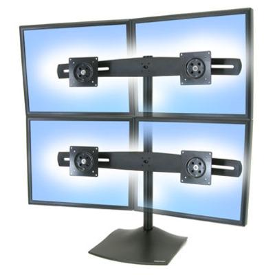 Lenovo DS100 Quad-Monitor Desk Stand Monitorarm - Zwart