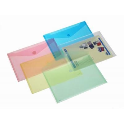 HFP Envelope Horizontal A4 Transparent Blue Map - Blauw