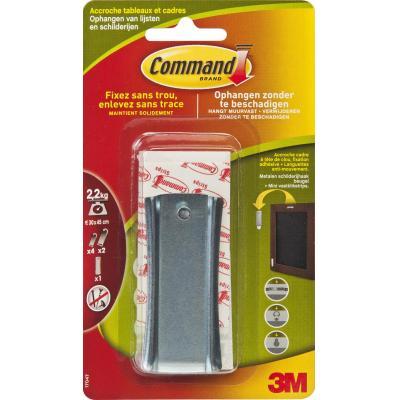 Command hook: Schilderijhaak Metaal Large voor Zaagtand Hanger - Metallic