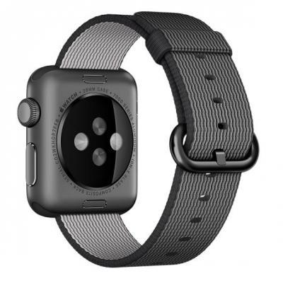 Apple : 38mm Black Woven Nylon - Zwart