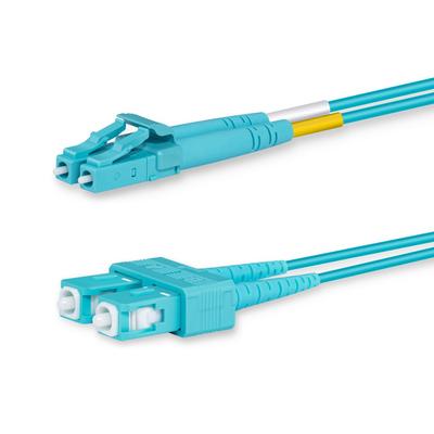 Lanview 2 x LC - 2x SC Multimode fibre cable, OM3, 50 / 125 µm, Aqua, 10 m Fiber optic kabel - Aqua-kleur