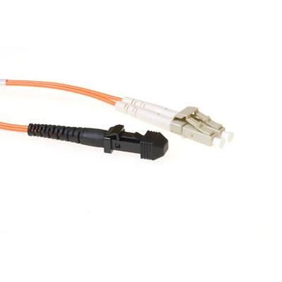 ACT 3m LSZHmultimode 62.5/125 OM1 glasvezel patchkabel duplexmetmTRJ en LC connectoren Fiber optic kabel - Geel