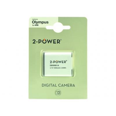 2-power batterij: Digital Camera Battery 3.7v 1050mAh - Wit