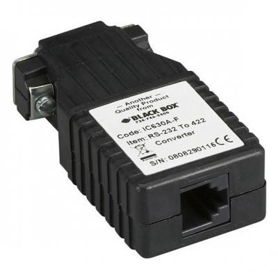 Black Box RS-232 to RS-422 Interface Bidirectional Converter, DB9 Female to RJ-11 Seriele .....