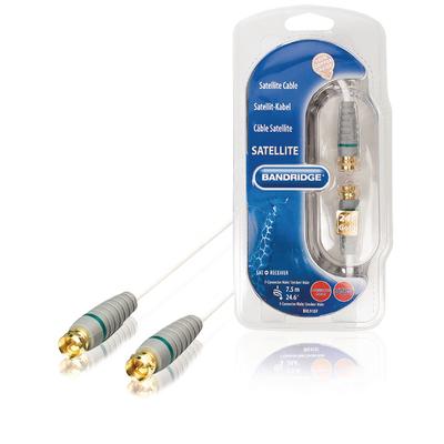 Bandridge BVL9107 Coax kabel - Grijs, Wit