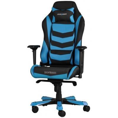 Dxracer : 4D, PU leather, black/blue, 165-185cm, 30kg