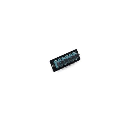 Schneider Electric Actassi - cover with 6 MTP adapters OM3 - 1U Fiber optic adapter - Aqua-kleur,Zwart