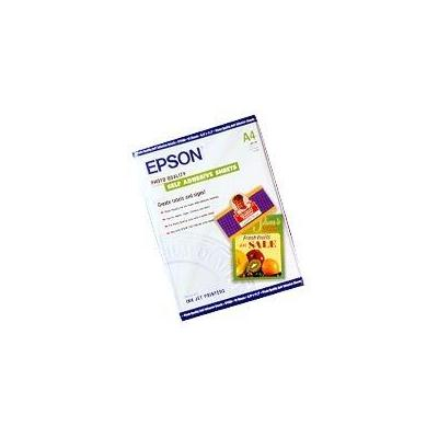 Epson fotopapier: Photo Quality Ink Jet Paper self-adhesive, DIN A4, 167g/m², 10 Vel