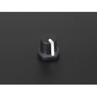 Adafruit : Potentiometer Knob, Soft Touch T19 White - Zwart, Wit