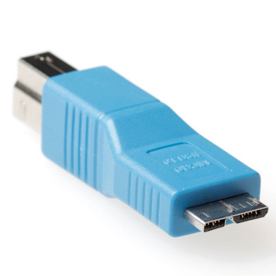ACT USB 3.0 adapter USB 3.0 B male - micro B male Kabel adapter - Blauw