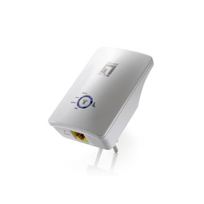 LevelOne 300Mbps, 802.11b/g/n, 1x 10/100Mbps Base-TX RJ-45, 2.4 - 2.4835 GHz, 3dbi Netwerk verlenger - Wit