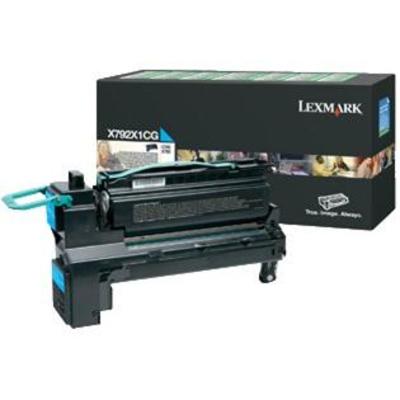Lexmark X792 20K cyaan retourprogramma printcartr. Toner