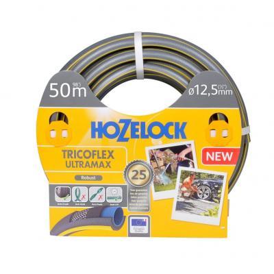 Hozelock tuinslang: Tricoflex Ultramax slang Ø 12.5 mm 50 meter - Grijs, Geel