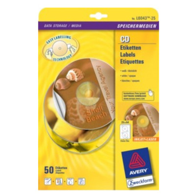 Avery Classic Size CD Labels Etiket - Wit