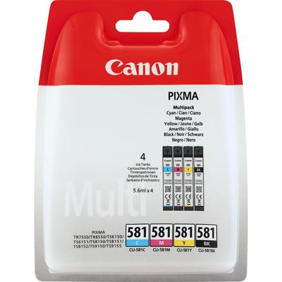 Canon inktcartridge: CLI-581 Multipack - Zwart, Cyaan, Magenta, Geel