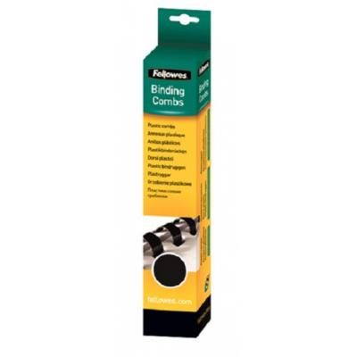 Fellowes inbinder: Plastic bindrug 16mm - Zwart