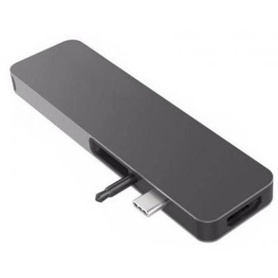 HYPER hub: HyperDrive SOLO USB-C HUB Space Gray - Grijs