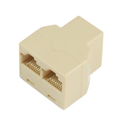 Microconnect RJ45-2xRJ45 F-F Netwerk splitter - Beige