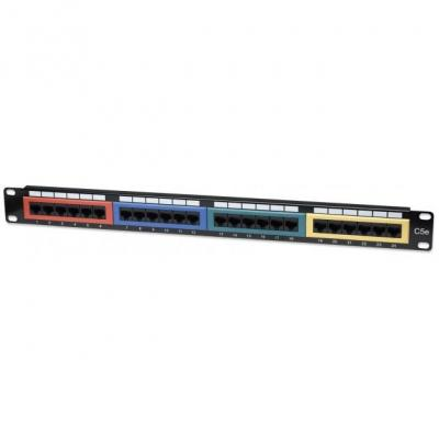 Intellinet patch panel: I-PP 24-RU-COL - Zwart