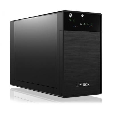 ICY BOX IB-3620U3 SAN - Zwart