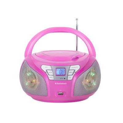 Audiosonic CD-radio: Stereo radio - Roze