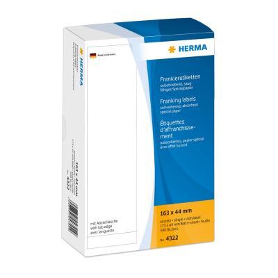 Herma etiket: Frankeer-etiketten enkel 163x44 500 St.