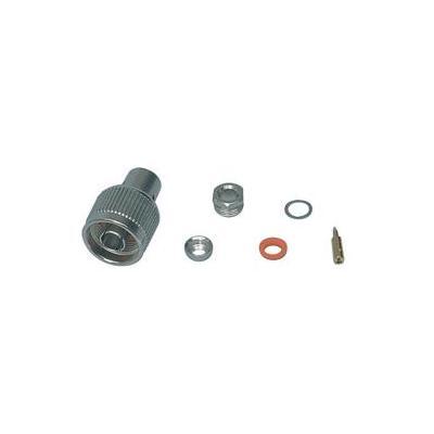 Valueline N-plug (clamp), f/ RG58. Kabel connector - Zilver