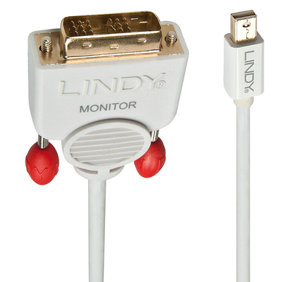 Lindy 5m, Mini DisplayPort/DVI-D - Wit