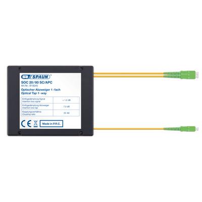 Spaun 815045 Kabel splitter of combiner - Zwart