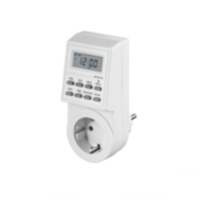 Microconnect elektrische timer: Digital Day & Week Timer Clock - Wit