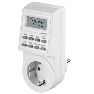 Microconnect Digital Day & Week Timer Clock Elektrische timer - Wit