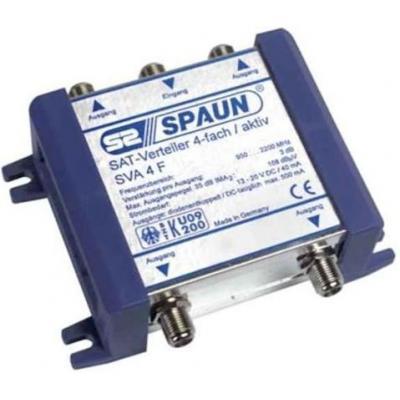 Spaun SVA 4 F Kabel splitter of combiner - Blauw
