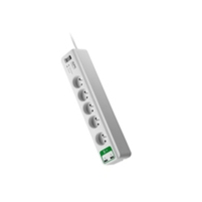 APC Essential SurgeArrest 5 outlets with 5V, 2.4A 2 port USB Charger 230V France Surge protector