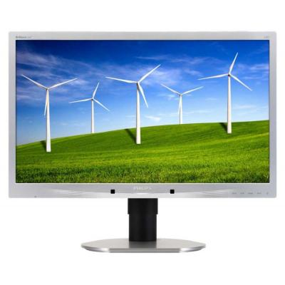 Philips Brilliance LCD-monitor met LED-achtergrondverlichting 220B4LPCS monitor - Zilver