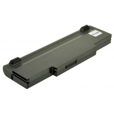 2-power batterij: Rechargeable battery for notebooks, Li-Ion, 11.1V, 6900mAh, 9cell, Black - Zwart