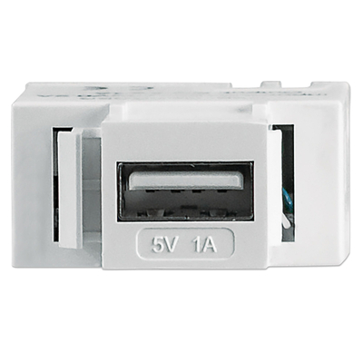 Intellinet Keystone Jack, Charging Port for USB Type-A, Output 5 V / 1 A - Wit