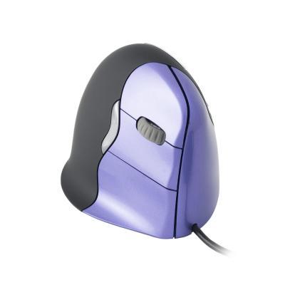 R-go tools computermuis: VerticalMouse 4 USB - Small - Rechtshandig - Zwart, Violet
