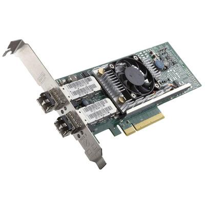 DELL Broadcom 57810 DP 10Gb DA/SFP+ Converged Network Adapter (laag profiel) - Kit netwerkkaart - Groen