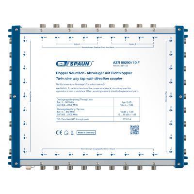 Spaun AZR 99290/10 F Kabel splitter of combiner - Blauw, Zilver