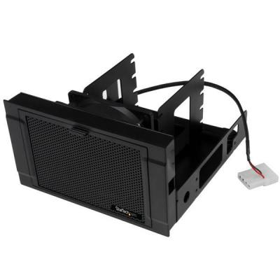 "StarTech.com 4x 2.5"" SSD/HDD Mounting Bracket with Cooling Fan Drive bay - Zwart"